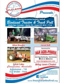 TN Soybean Festival Biodiesel Truck & Tractor Pull @ Martin Recreation Complex | Martin | Tennessee | United States