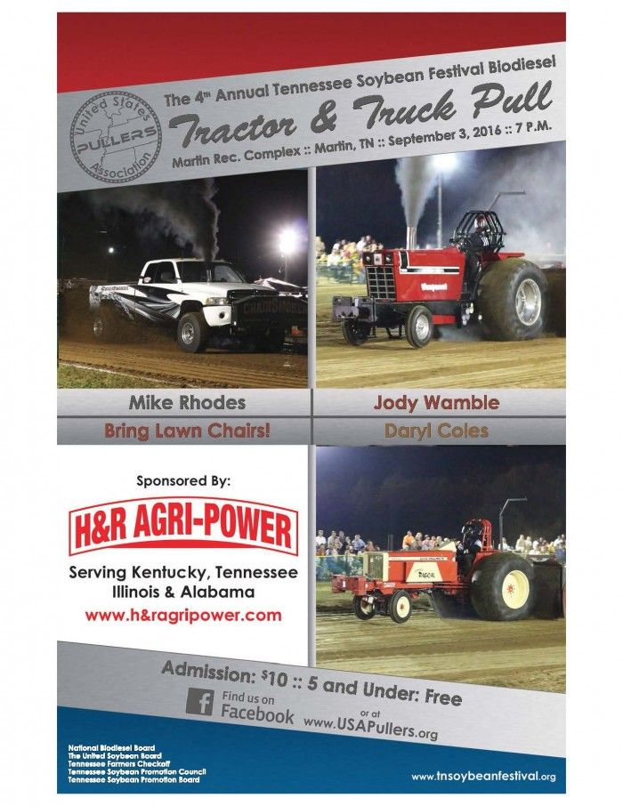 4th Annual TN Soybean Festival Biodiesel Tractor & Truck Pull @ Martin Recreation Complex | Martin | Tennessee | United States