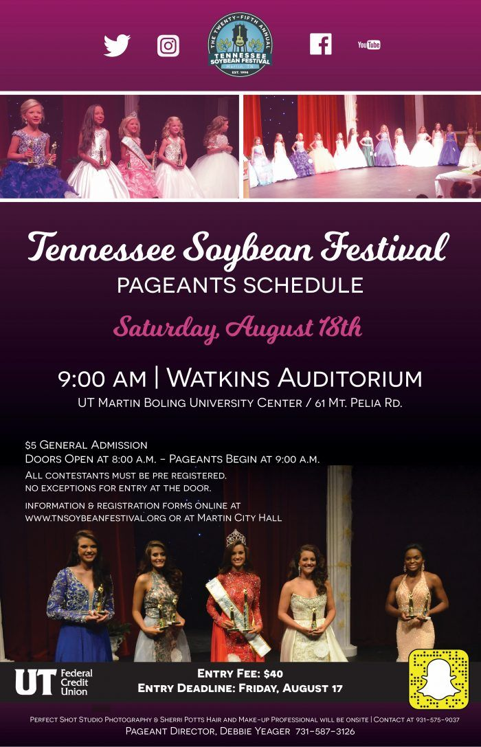 Tennessee Soybean Festival Pageant @ Watkins Auditorium