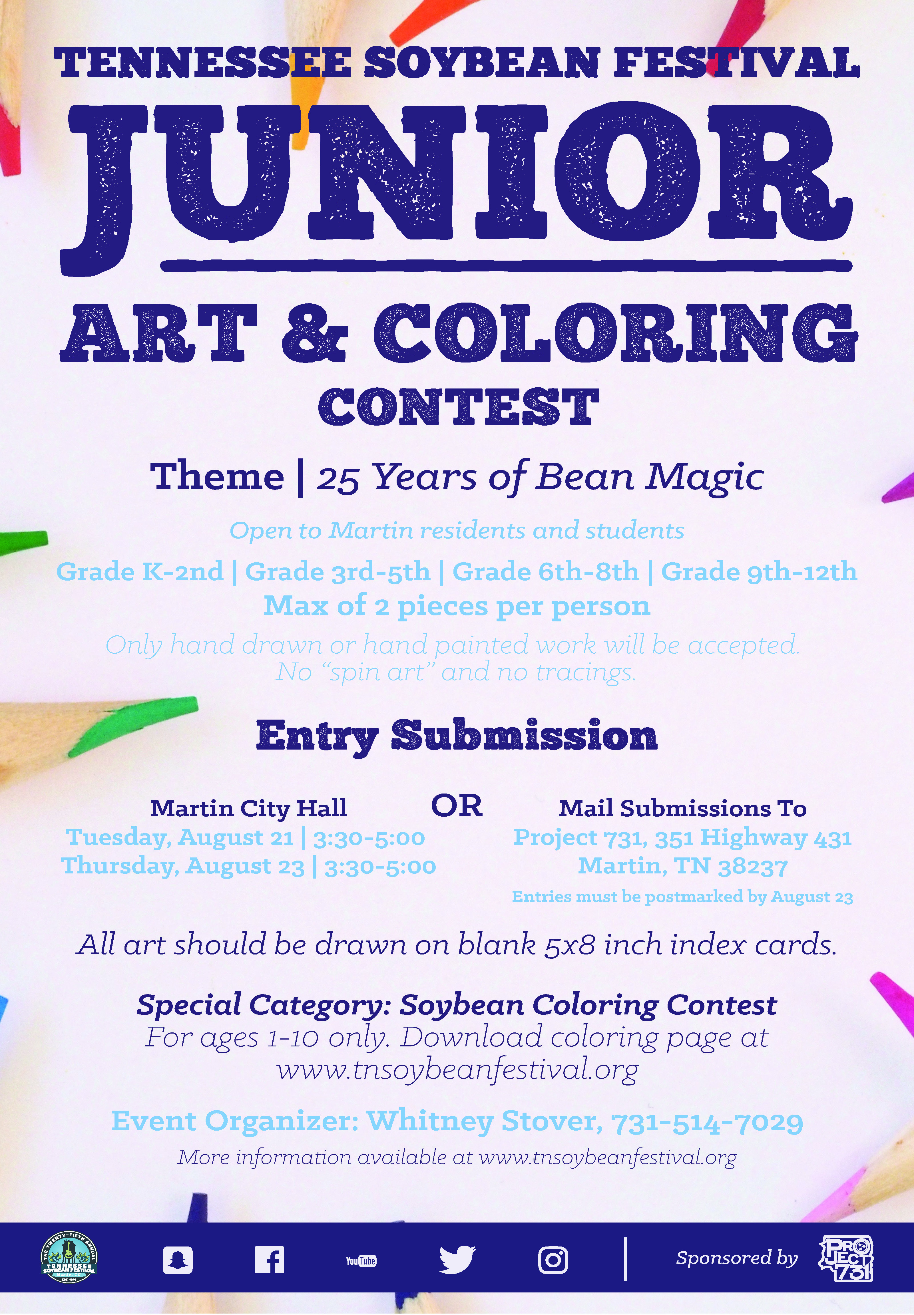 tsf junior art photography coloring and essay contest tennessee