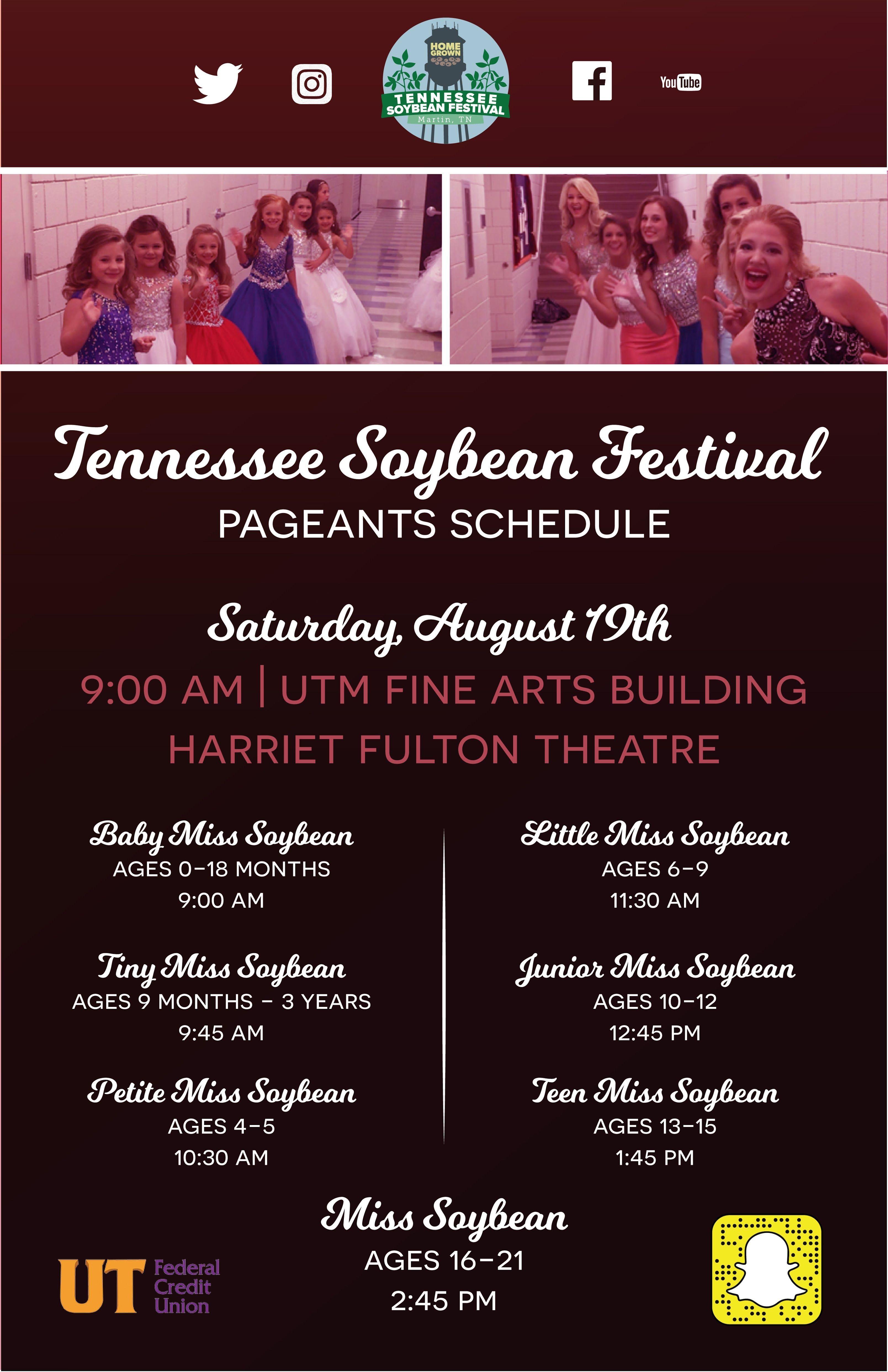Tennessee Soybean Festival Pageant @ UTM Fine Arts Building, Harriett Fulton Theatre