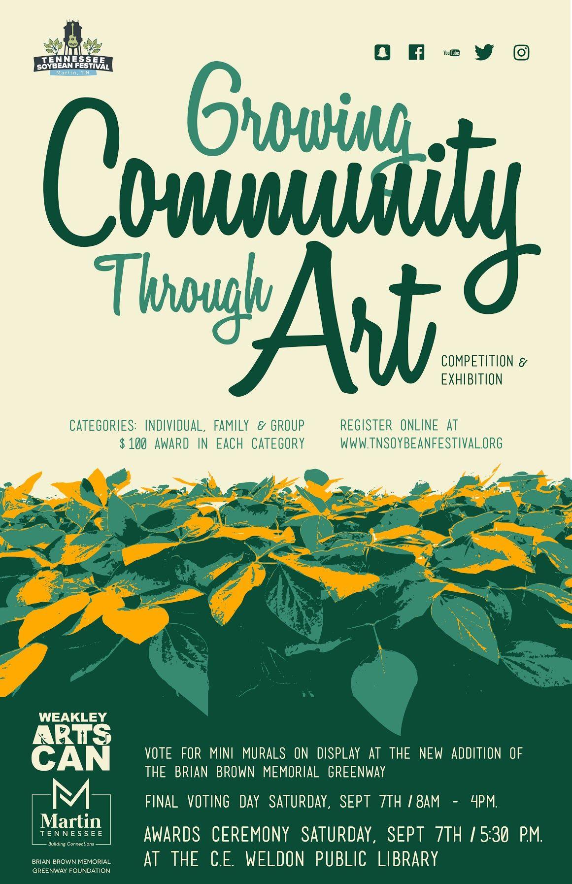 Brian Brown Greenway Community Art Competition Artist Deadline @ Martin City Hall