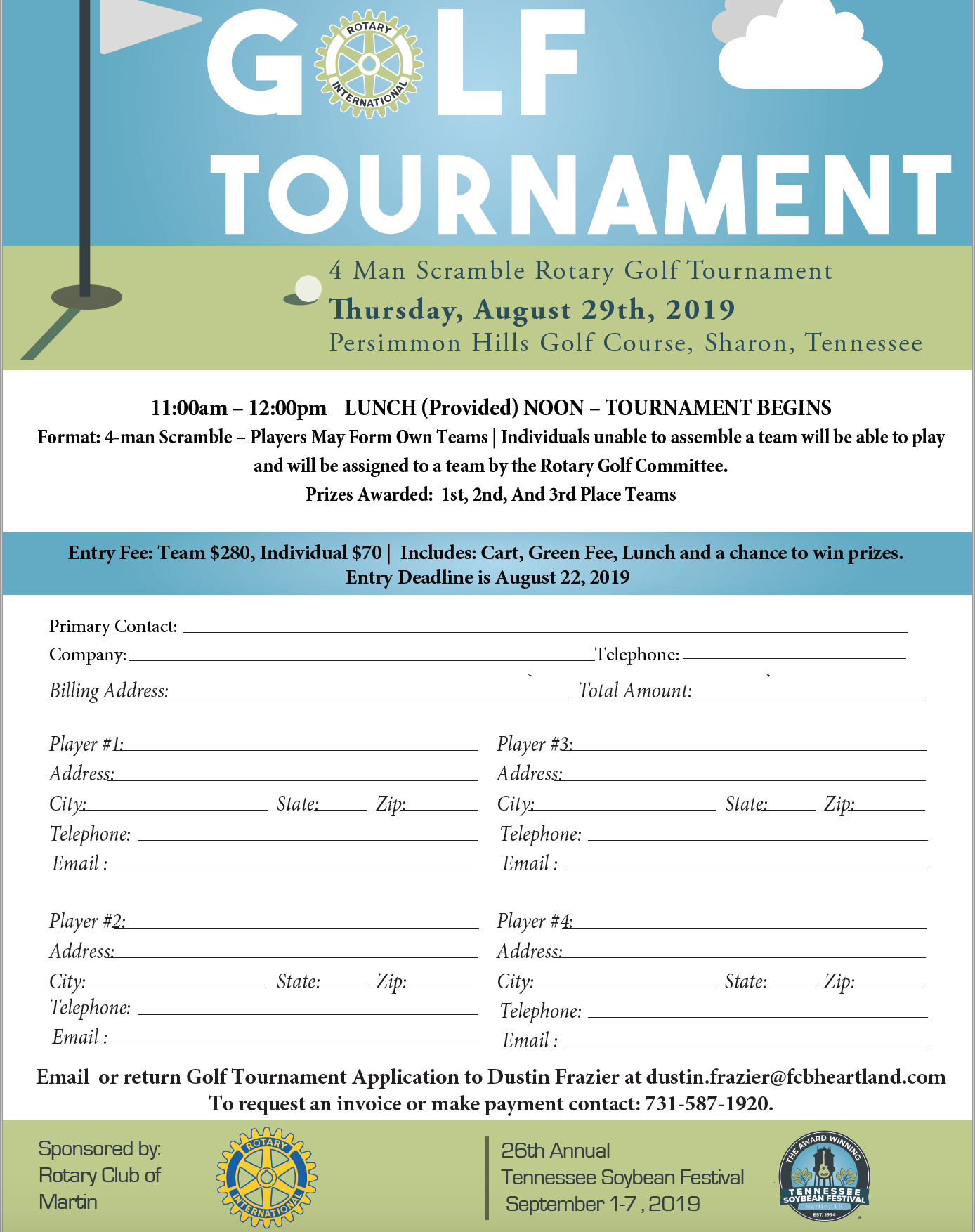 TSF Rotary Golf Tournament @ Persimmon Hills